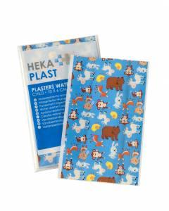 Heka plast wondpleisters kids 10 x 6 cm 10 stuks/zak
